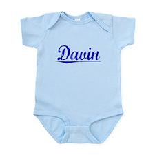 Davin, Blue, Aged Infant Bodysuit