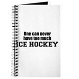 Never Too Much ICE HOCKEY Journal