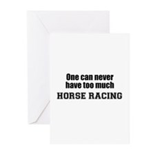 Never Too Much HORSE RACING Greeting Cards (Packag