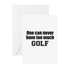 Never Too Much GOLF Greeting Cards (Pk of 10)