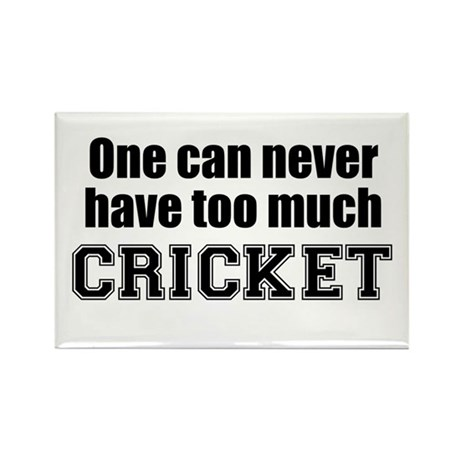Never Too Much CRICKET Rectangle Magnet (10 pack)
