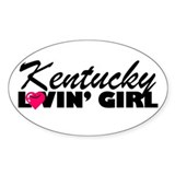 Kentucky Loving girl Oval Decal