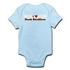 I Love Duck Shufflers Infant Creeper