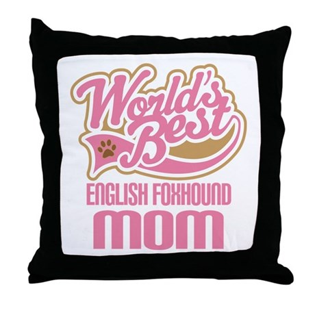 English Foxhound Mom Throw Pillow