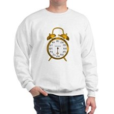 Due in June Gold Alarm Clock Maternity Sweatshirt