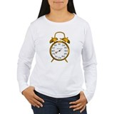 Due in August Gold Alarm Clock Maternity T-Shirt