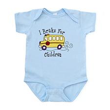 I Brake For Children Infant Bodysuit