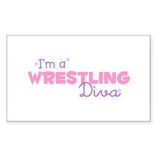 I'm a Wrestling diva Rectangle Decal
