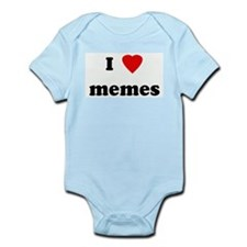 I Love memes Infant Creeper