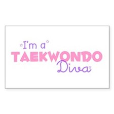 I'm a Taekwondo diva Rectangle Decal