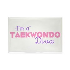 I'm a Taekwondo diva Rectangle Magnet