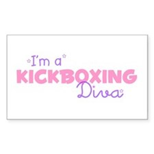 I'm a Kickboxing diva Rectangle Decal