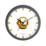Blown Gold 0 Wall Clock
