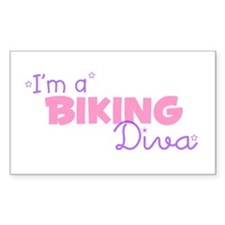 I'm a Biking diva Rectangle Decal