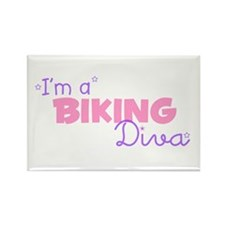I'm a Biking diva Rectangle Magnet