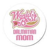 Dalmatian Mom Round Car Magnet