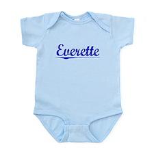 Everette, Blue, Aged Onesie