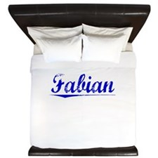 Fabian, Blue, Aged King Duvet