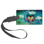 My Crescent Owl Large Luggage Tag
