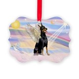Dobie Angel in Clouds Picture Ornament