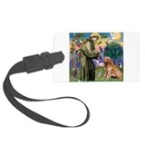 St Francis / Golden Retriever Large Luggage Tag