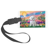 Guardian Angel / Maltese pup Luggage Tag