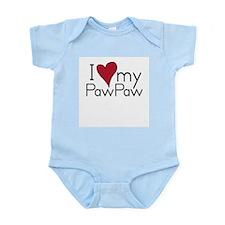 I Love my PawPaw Infant Creeper Body Suit