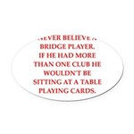 BRIDGE1.png Oval Car Magnet