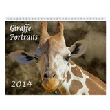 Giraffe Personality Portraits Wall Calendar
