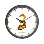 Blown Gold 3 Wall Clock