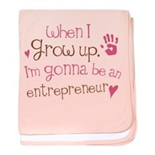 Kids Future Entrepreneur baby blanket