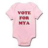 VOTE FOR MYA Infant Creeper
