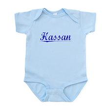 Hassan, Blue, Aged Infant Bodysuit