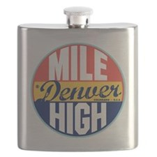 Denver Vintage Label Flask