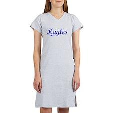 Hayles, Blue, Aged Women's Nightshirt