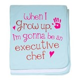 Future Executive Chef baby blanket