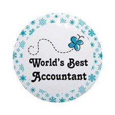 Accountant (Worlds Best) Gift Ornament (Round)