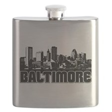 Baltimore Skyline Flask
