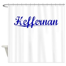 Heffernan, Blue, Aged Shower Curtain