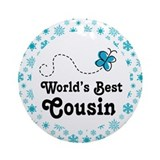 Cousin Gift (Worlds Best) Ornament (Round)