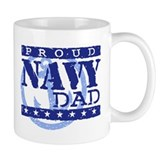 Proud Navy Dad Small Mugs