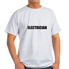 Black Electrician text on the front only.