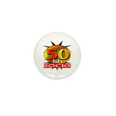 50ish Rocks Mini Button (10 pack)