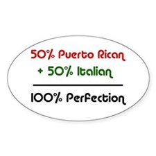 Italian & Puerto Rican Oval Decal