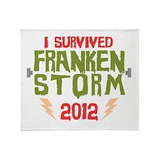 I Survived Frankenstorm Throw Blanket