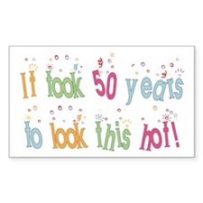 Funny 50th Birthday Rectangle Decal
