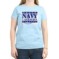 Proud Navy Grandma Women's Pink T-Shirt