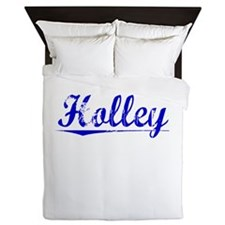 Holley, Blue, Aged Queen Duvet