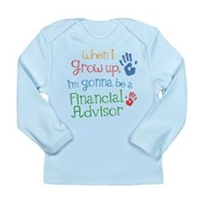 Future Financial Advisor Long Sleeve Infant T-Shir