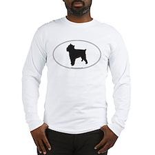 Brussels Griffon Silhouette Long Sleeve T-Shirt